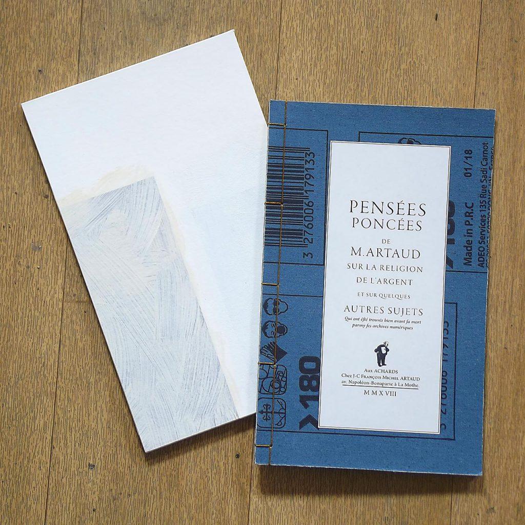 Livre pensées poncées, Jean-Claude Artaud