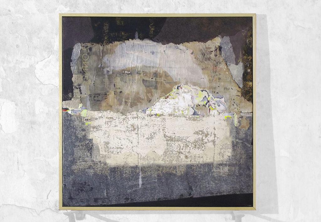 Natali HUON, 2019, technique mixte sur papier sur toile