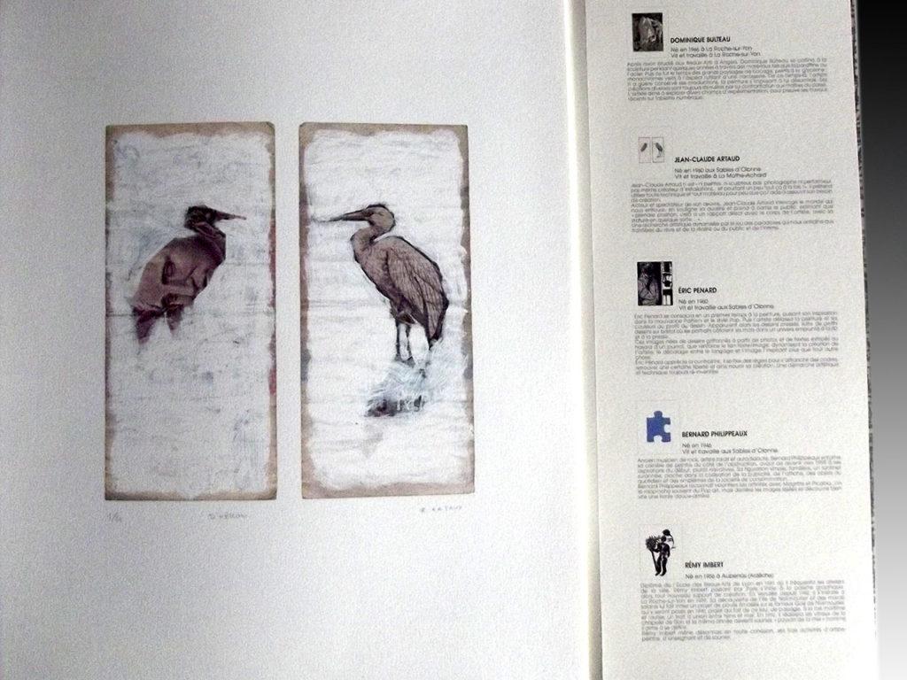 gravure inclue dans portefolio pour les 20 ans de l'Artothèque de La Roche S/Yon