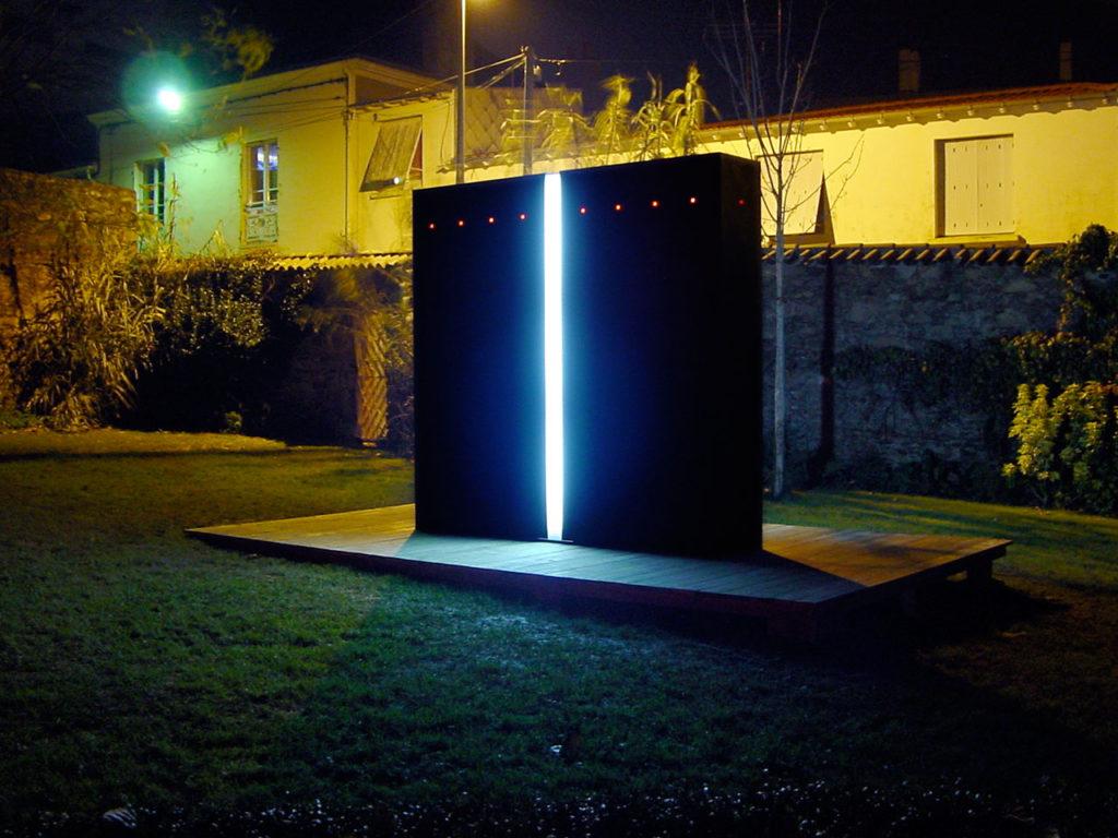 Maquette grandeur nature pour une œuvre monumentale sonore et lumineuse