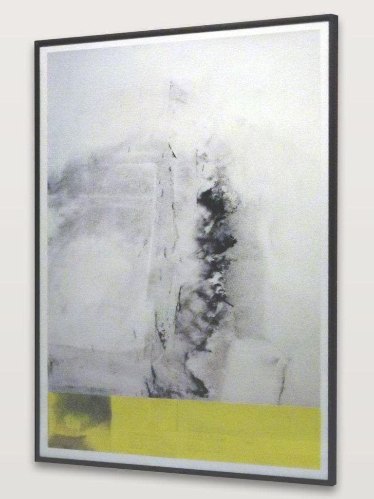 œuvre, collage photo de poussière et papier de verre