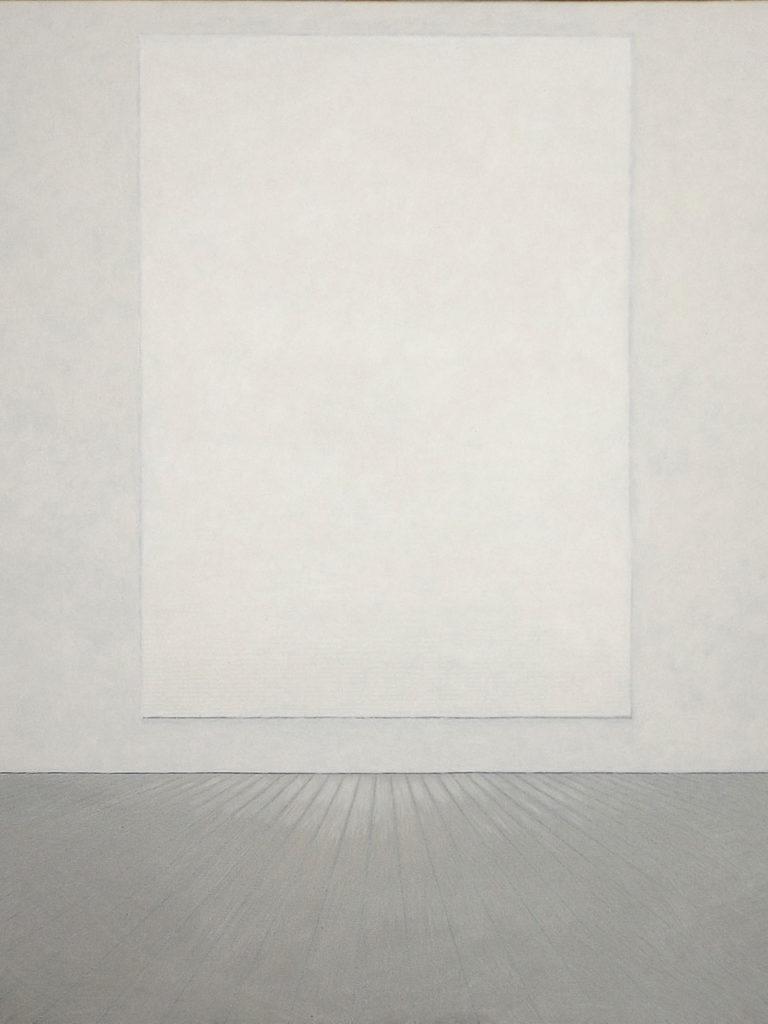 Roman Opalka series, white is white, canvas