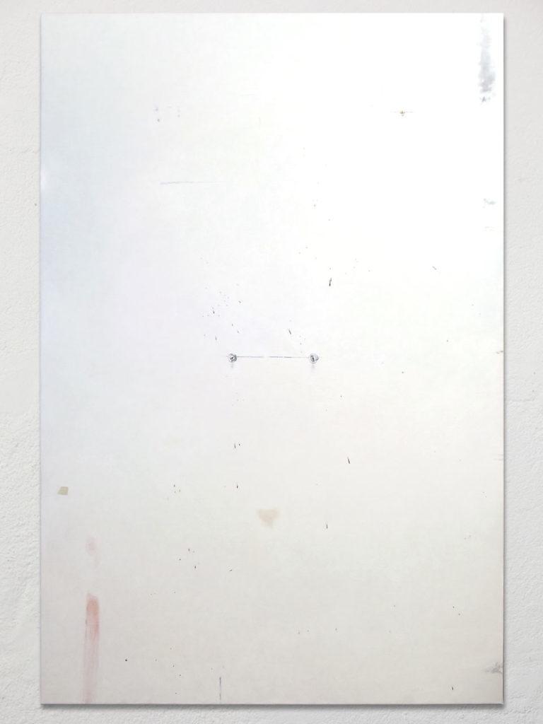 Détail du mur de l'atelier de l'artiste Philippe HURTEAU
